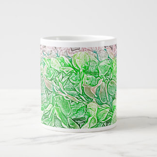 green lei sketch flowers neat abstract background extra large mug