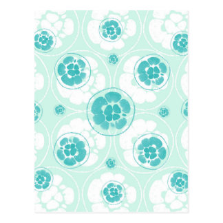 Green Lemon Pattern Postcard
