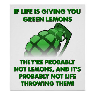 Green Lemons Funny Poster