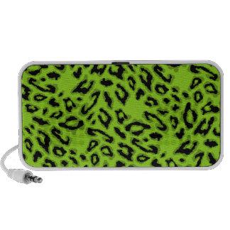 Green Leopard Doodle Speaker