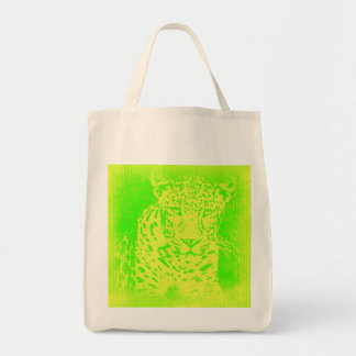 Green Leopard Portrait Vintage Bags