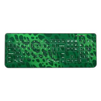 Green Leopard Print Wireless Keyboard