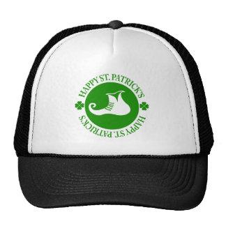 Green Leprechaun Shoes Happy St. Patrick's 2 Trucker Hat