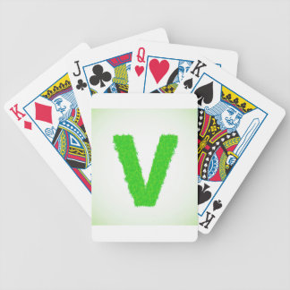green letter bicycle playing cards