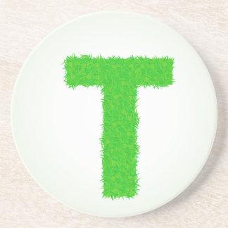 green letter coaster
