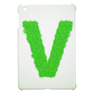green letter cover for the iPad mini