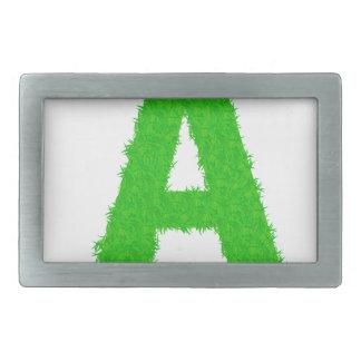 green letters belt buckle