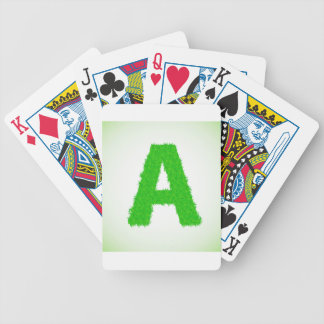 green letters bicycle playing cards