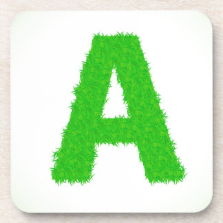 green letters coaster