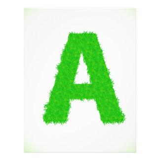 green letters letterhead