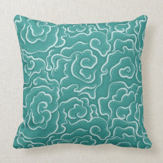Green Lettuce Coral Throw Pillow