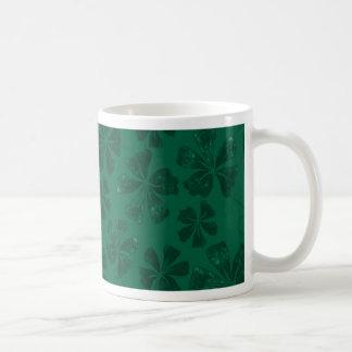 green lflowers coffee mug