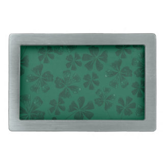 green lflowers rectangular belt buckles