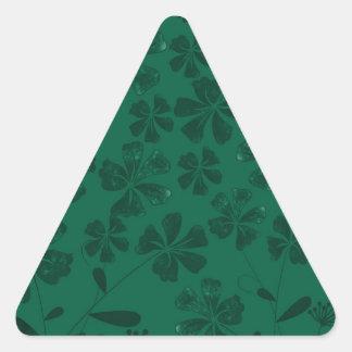 green lflowers triangle sticker