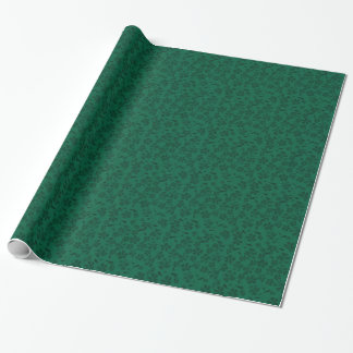 green lflowers wrapping paper