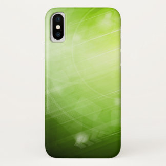 Green light design in hi-tech style iPhone x case