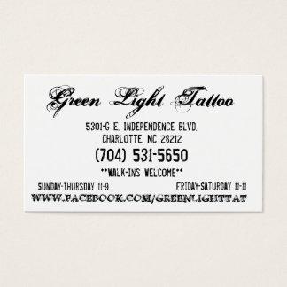 Green Light Tattoo Card