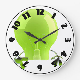 Green Lightbulb Clock