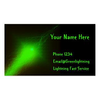 Green Lightning Business Card