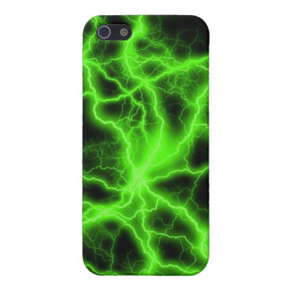 Green Lightning iPhone 5/5S Covers