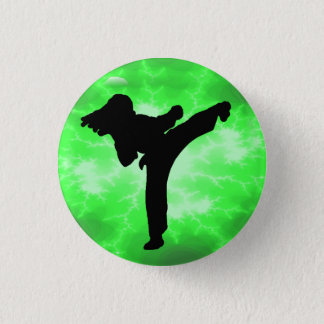 Green Lightning Lady Button