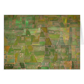 Green Like Klee Greeting card