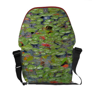 Green Lilly Pad Messenger Bag