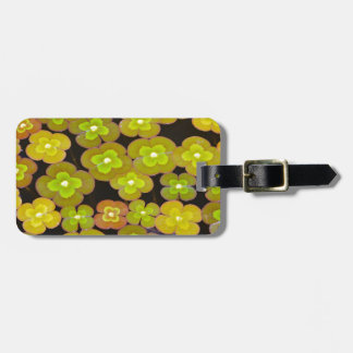 Green lilypads on pond luggage tag