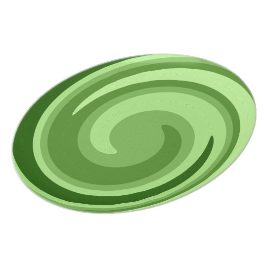 Green Lime Abstract Swirl Pattern Plate