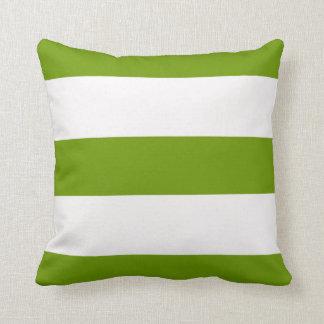 green lime broad stripe striped stripes pillow