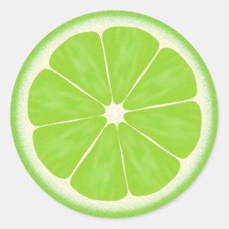 Green Lime Citrus Fruit Round Sticker
