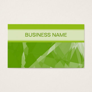 Green Lime Geometric Pattern and Plain Lime Business Card