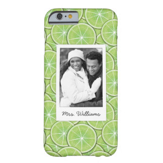 Green Lime Pattern | Add Your Photo Barely There iPhone 6 Case