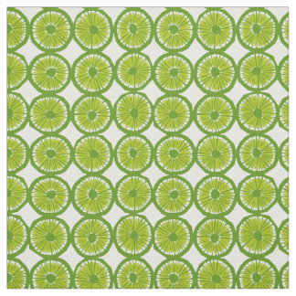 green lime slices pattern modern fabric