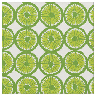 green lime slices pattern modern print fabric