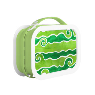 Green Lime Waves Lunch Box