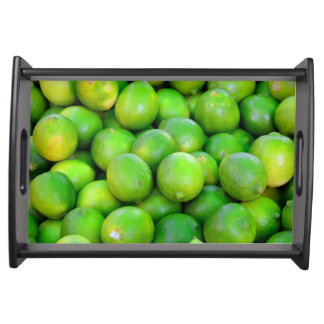 Green Limes pattern Serving Tray