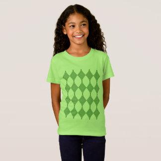 Green line art T-Shirt