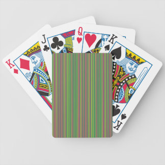 Green lines bicycle playing cards