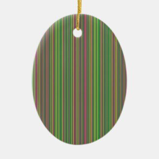 Green lines ceramic oval ornament