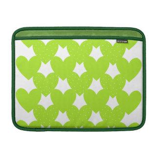 Green Linked Hearts MacBook Sleeves