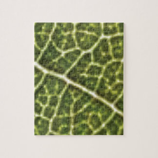 green linked tubes jigsaw puzzle