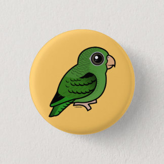 Green Linnie 1 Inch Round Button