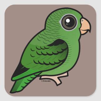Green Linnie Square Sticker