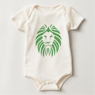 Green Lion Head Baby Bodysuit