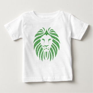 Green Lion Head Baby T-Shirt