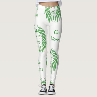 Green Lion Head Go Lions On Any Color Leggings