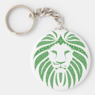 Green Lion Head Keychain