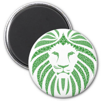 Green Lion Head Magnet