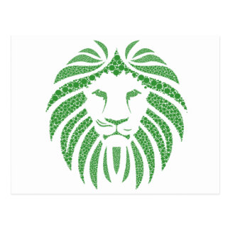 Green Lion Head Postcard